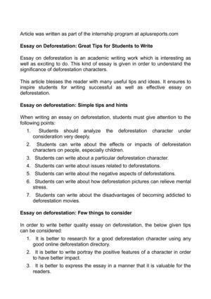 essay on deforestation great tips for students to write essay on deforestation great tips for students to write