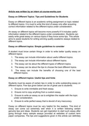 Calam O Essay On Different Topics Tips And Guidelines For Students