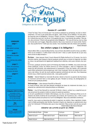 Trait d'Union n°37