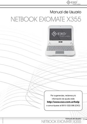 MANUAL NETBOOK EXOMATE X355