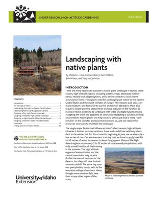 ID: Landscaping with native plants