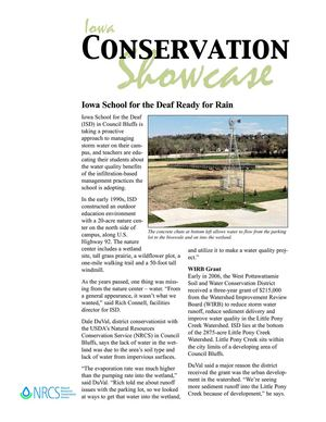 IA: Council Bluffs: Iowa School for the Deaf Rain Garden