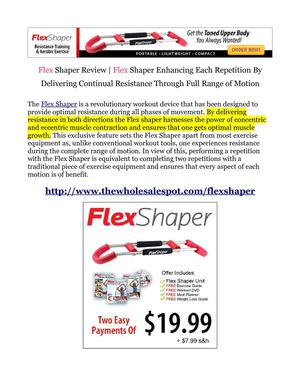 Flex Shaper Toning Device Maximizing the Results of Every Repetition