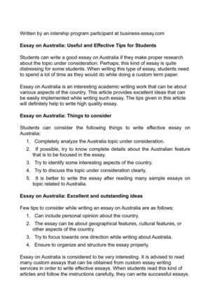 Thesis Statement For Argumentative Essay Essay On Australia Useful And Effective Tips For Students Obesity Essay Thesis also High School Experience Essay Calamo  Essay On Australia Useful And Effective Tips For Students Thesis Statement In Essay