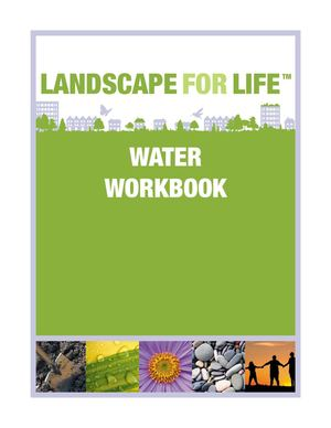 Landscape for Life - Water Workbook