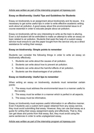 How To Write A Good Thesis Statement For An Essay Essay On Biodiversity Useful Tips And Guidelines For Students Proposal Essay Ideas also Example Of Essay Writing In English Calamo  Essay On Biodiversity Useful Tips And Guidelines For Students Essay On English Literature