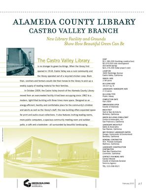 CA: Bay-Friendly Landscapes Case Studies - Castro Valley Library