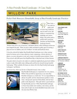 CA: Bay-Friendly Landscapes Case Studies - Willow Park