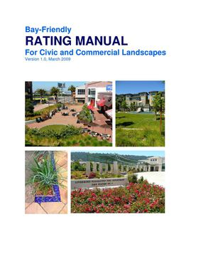 CA: Bay-Friendly Rating Manual for Civic and Commerical Landscapes
