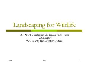 PA: Mid-Atlantic Landscaping for Wildlife