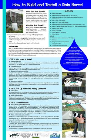 How to Build and Install a Rain Barrel - Save Waters NC
