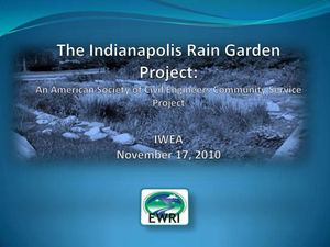 IN: Indianapois School Rain Garden Projects