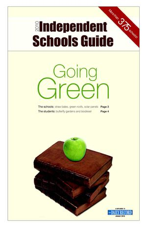 MD: Baltimore: Schools Going Green