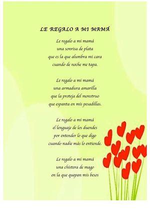 Calam o poemas d a de la madre - Que le regalo a mi papa ...