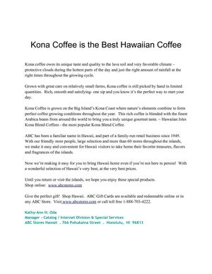 Hawaii coffee