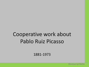 Cooperative work about Picasso