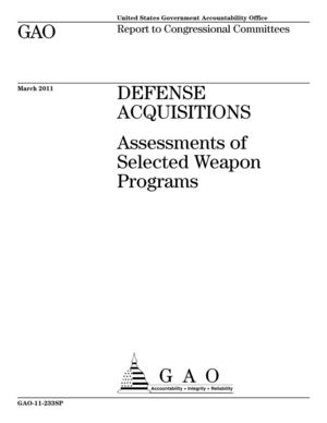 Defense acquisitions : Assessments of Selected Weapon Programs (mars 2011)