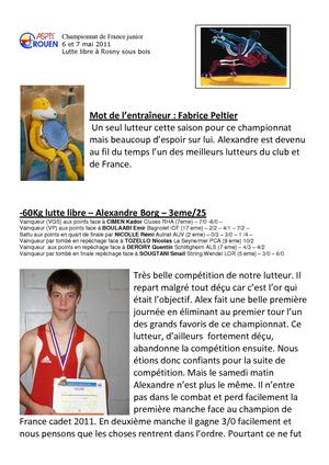 Résultats France junior libre