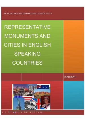 Monuments and Cities in English Speaking Countries