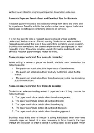 Research Paper on Brand: Great and Excellent Tips for Students