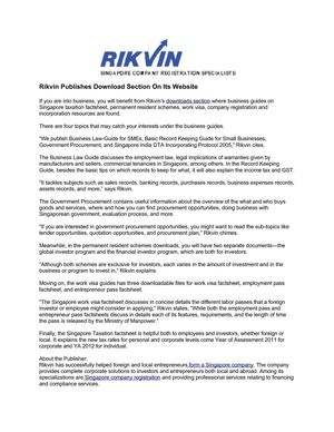 Rikvin Publishes Download Section On Its Website