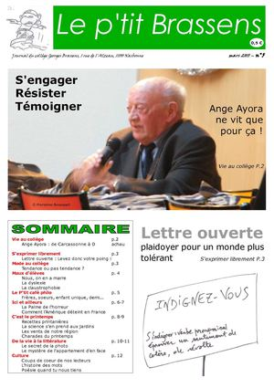 Edition n° 5 du journal P'tit Brassens