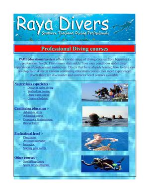 Diving in thailand - Professional diving courses