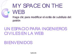 MY SPACE ON THE WEB-PRESENTACION