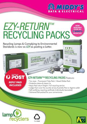 Ezy-Return Lamp Recycling packs