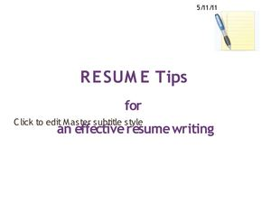 Resume Tips For An Effective Resume Writing
