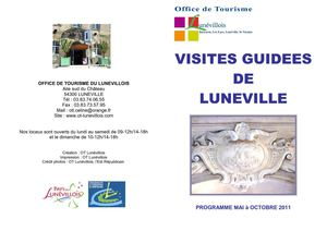 VISITES GUIDEES CHATEAU LUNEVILLE 2011
