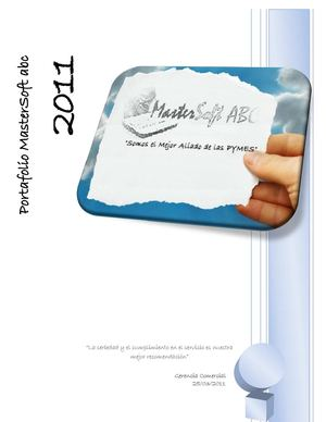 Portafolio MasterSoft abc 2011