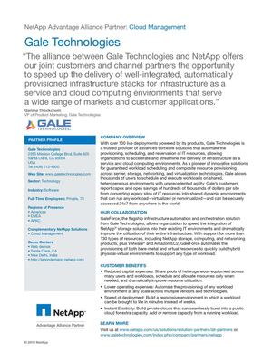 Gale Technologies & NetApp In Alliance To Offer The Best of Cloud Management Services