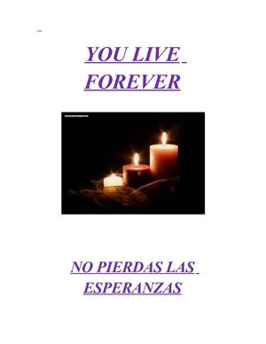 YOU LIVE FROREVER