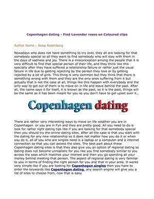 Copenhagen dating - Find Lavender roses on Coloured clips