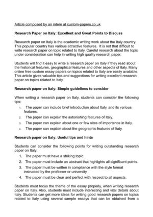 calamo  research paper on italy excellent and great points to discuss research paper on italy excellent and great points to discuss