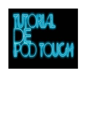 TUTORIAL IPOD TOUCH
