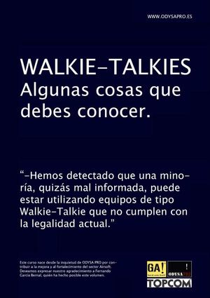Walkie-Talkies: Cosas que debes conocer by ODYSA PRO & TOPCOM