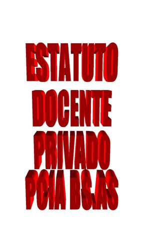 ESTATUTO DEL DOCENTE PRIVADO PCIA BS.AS
