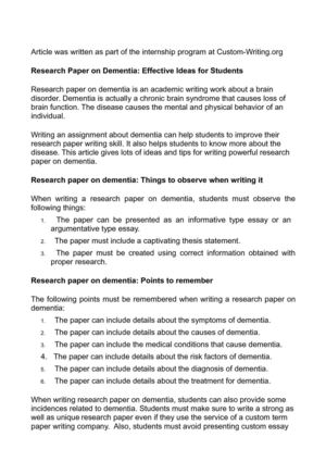 what should the background of a research paper include