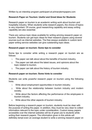 Business Essay Example  Sample Persuasive Essay High School also Sample Essays For High School Students Calamo  Research Paper On Tourism Useful And Great Ideas  The Yellow Wallpaper Character Analysis Essay