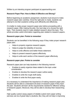 Term paper to request to do research at work