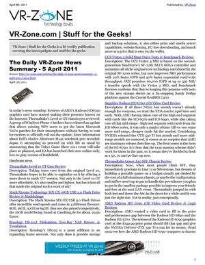 Calaméo - VR-Zone Technology News | Stuff for the Geeks! Apr 2011 Issue