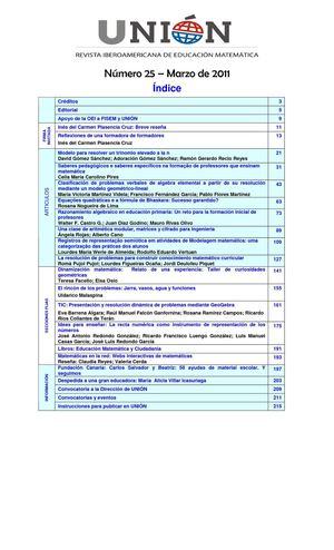 Calaméo - UNIÓN: Revista Iberoamericana de educación matemática. nº ...