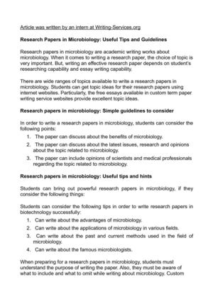 research paper in biotechnology
