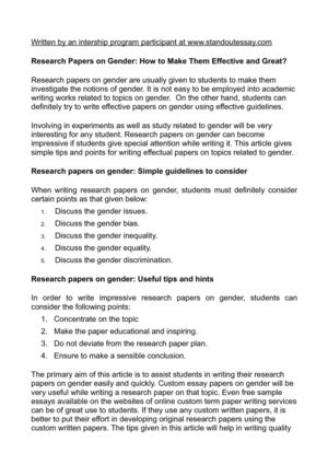 effective papers