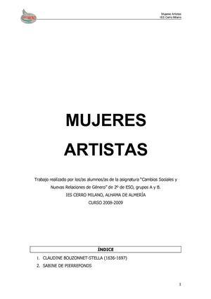 Calaméo - MUJERES ARTISTAS 653f2d94f76