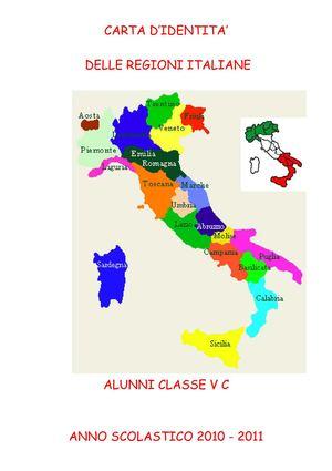 Calam o carta d 39 identit delle regioni italiane 1 - Regioni italiane non bagnate dal mare ...