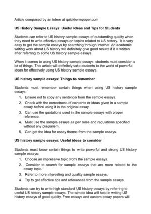 My Hobby English Essay Us History Sample Essays Useful Ideas And Tips For Students Argumentative Essay Topics On Health also Science Essay Topic Calamo  Us History Sample Essays Useful Ideas And Tips For Students Science And Technology Essays