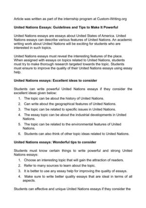 Help With Essay Papers United Nations Essays Guidelines And Tips To Make It Powerful Proposal Essay Sample also English Essay Pmr Calamo  United Nations Essays Guidelines And Tips To Make It Powerful Pollution Essay In English